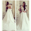 Sexy Half Sleeve A-line Scoop Neck Yarn Lace Open Back Bow Knot Chapel Trailing Wedding Dresses,WD0132