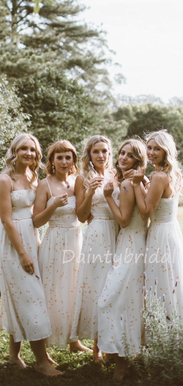 Charming Spaghetti Strap A-line Bridesmaid Dresses.DB10465