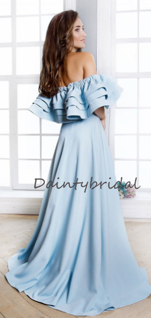 Beautiful Straight A-line Evening Dresses Party Long Bridesmaid Dresses.DB10680