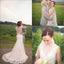 Country Vintage Clairvoyant Outfit Lace Back V-Neck Sleeveless Long Sweep Trailing  Wedding Dresses. DB020