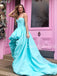 Charming Sweetheart Satin High-low Long Prom Dresses Evening Dresses With Train.DB10535