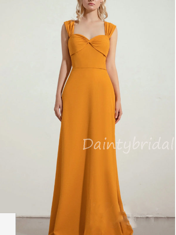 New Arrival Sweetheart Lace Up Back Floor Length Long Bridesmaid Dresses.DB10565