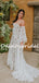 Charming Off-shoulder Sweetheart Simple Lace Vintage Wedding Dresses, DB10736