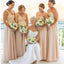 Inexpensive Chiffon One Shoulder Empire Waist Column Pregnant Women Sweetheart Floor-length Bridesmaid Dresses, WG60