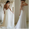 Cheap Summer Simple Illusion Strap Sexy Backless Lace Chiffon Elegant Popular  Wedding Party Dresses.   DB0001