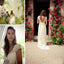 Popular Cheap Long A-line V-back Cap Sleeve Simple Lace Sweep Trailing Wedding Party Dresses, WD0006