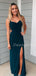 Charming Spaghetti Strap Side Slit Long Prom Dresses Evening Dresses.DB10507