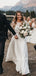 Elegant Scoop Neck Tulle Lace Two Piece Long Sleeves Vatage Wedding Dresses.DB10407