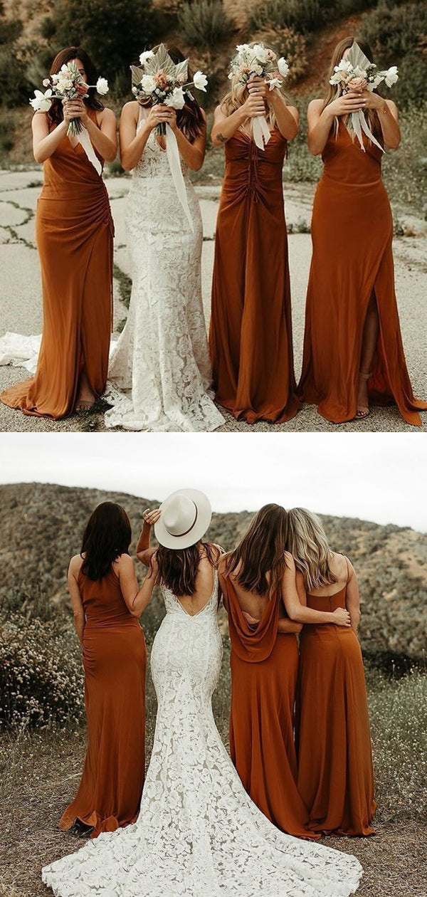 Charming A-line Morden Long Bridesmaid Dresses.DB10427