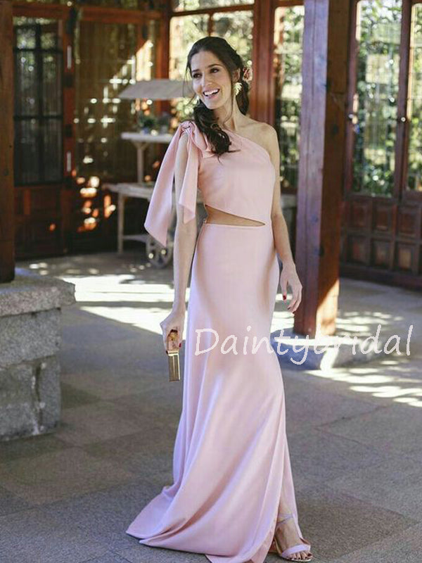 Charming One-shoulder Mermaid Long Prom Dresses Evening Dresses.DB10537