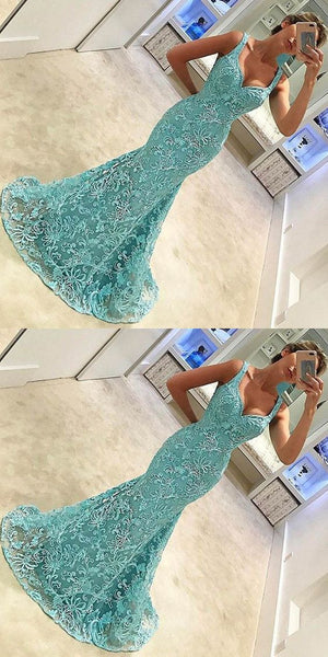 Newest Charming Green Lace Mermaid Sweetheart Sexy Evening Party Bridal Gown Prom Dresses,PD0084