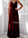 Charming V-neck Side Slit Long Prom Dresses Evening Dresses.DB10458