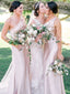 Elegant Simple One-shoulder Mermaid Wedding Party Dresses Long Bridesmaid Dresses.DB10698.