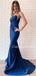 New Arrival Mermaid Straight Zipper Up Satin Fashion Prom Dresses Evening Dresses.DB10499