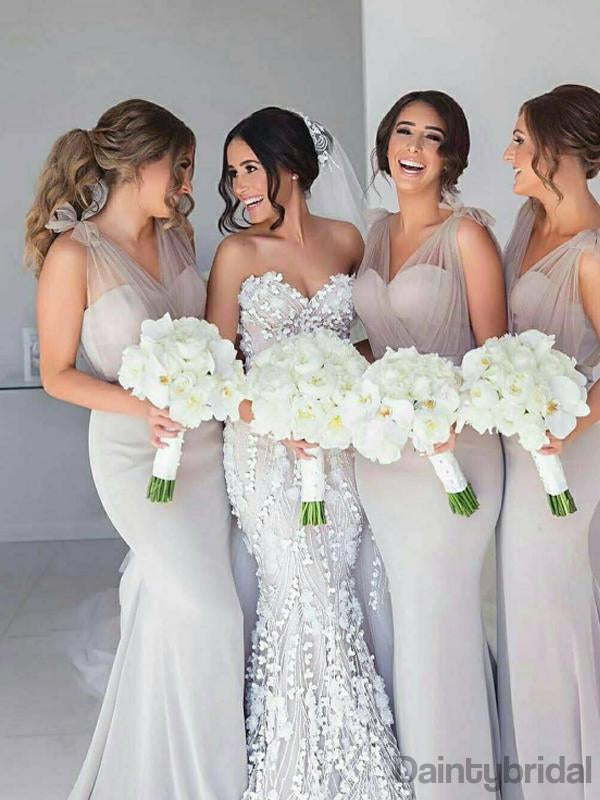 Sweetheart Floor Length Mermaid Bridesmaid Dresses.DB10159