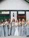 Charming Straight A-line Floor Length Bridesmaid Dresses.DB10469