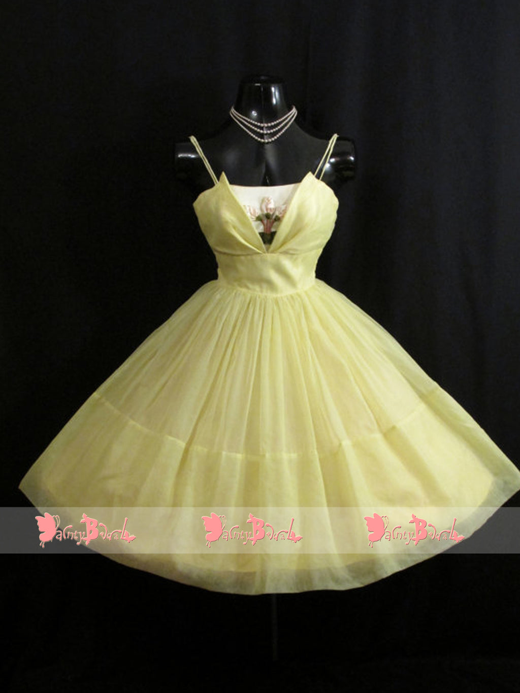 Pastel Yellow Spaghetti Straps Elegant Short Party Dresses Homecoming Dresses,BD0162