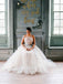 Simple Tulle One Shoulder Ball Gown Cheap Wedding Dresses ,DB0157