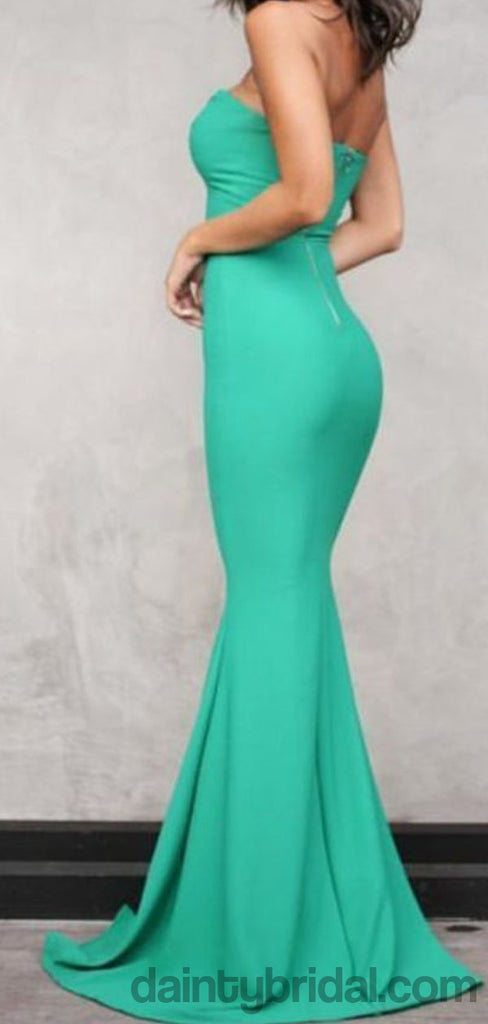 Sexy Sweetheart Green Doble FDY Fabric Long Prom Dress.DB10040