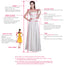 Vintage Jewel Neck Long Illusion Sleeve Sweetheart Ball Gown Lace Beading Princess Wedding Dress, WD0176