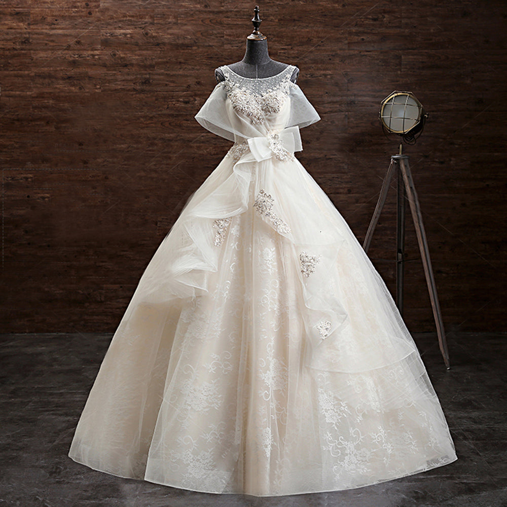 1abbde40adaff Lace Appliques Ball Gown Wedding Dresses