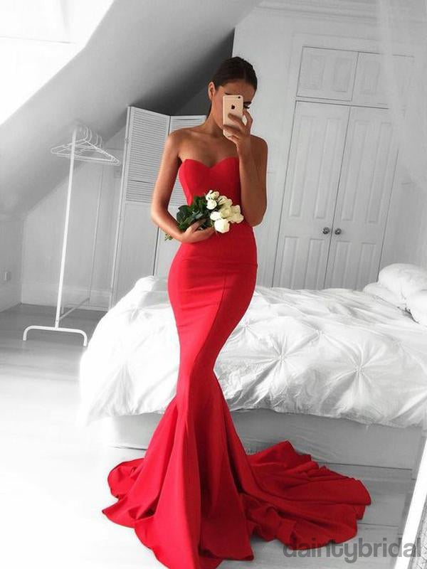 Sexy Sweetheart Mermaid With Train Long Prom Dresses.DB10073