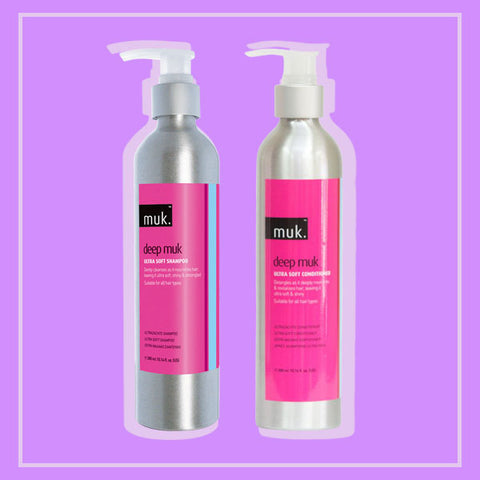 Top 10 Australian Hair Products and Hair Appliances - Muk Ultra Soft Shampoo and Conditioner