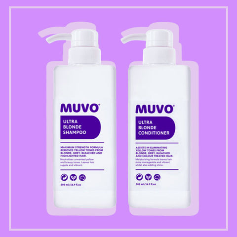 Top 10 Australian Hair Products and Hair Appliances - Muvo Ultra Blonde Shampoo and Ultra Blonde Conditioner