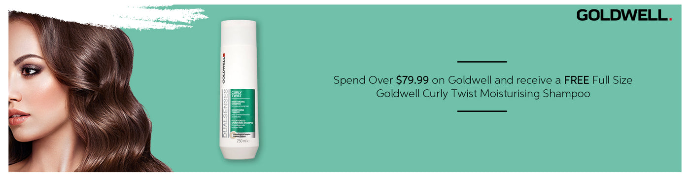 Spend over $79.99 on Goldwell and receive a free full size curly Twist Moisturising Shampoo