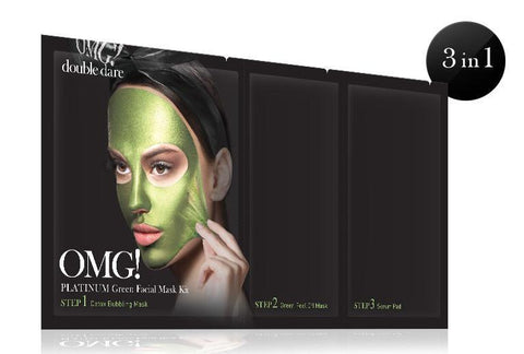 OMG Platinum Green Facial Mask Kit
