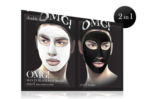 OMG Man In Black Facial Mask