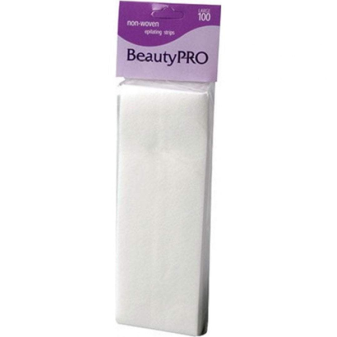 BeautyPRO Large Non-Woven Wax Strips - 100pc product shot