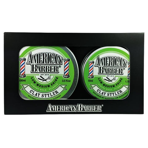 American Barber Clay Styler 50ml-100ml Duo Pack