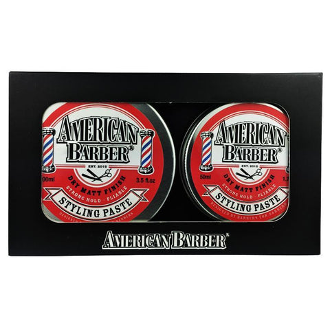 American Barber Styling Paste 50ml-100ml Duo Pack