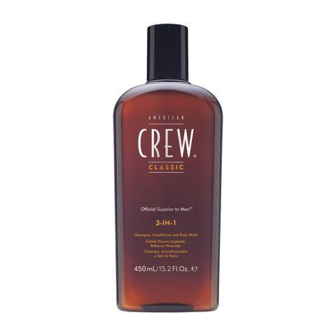 American Crew Classic 3-in-1 Shampoo Conditioner and Body Wash 450ml