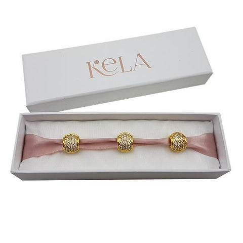 Kela Celeste Diamante Hair Charms - Gold