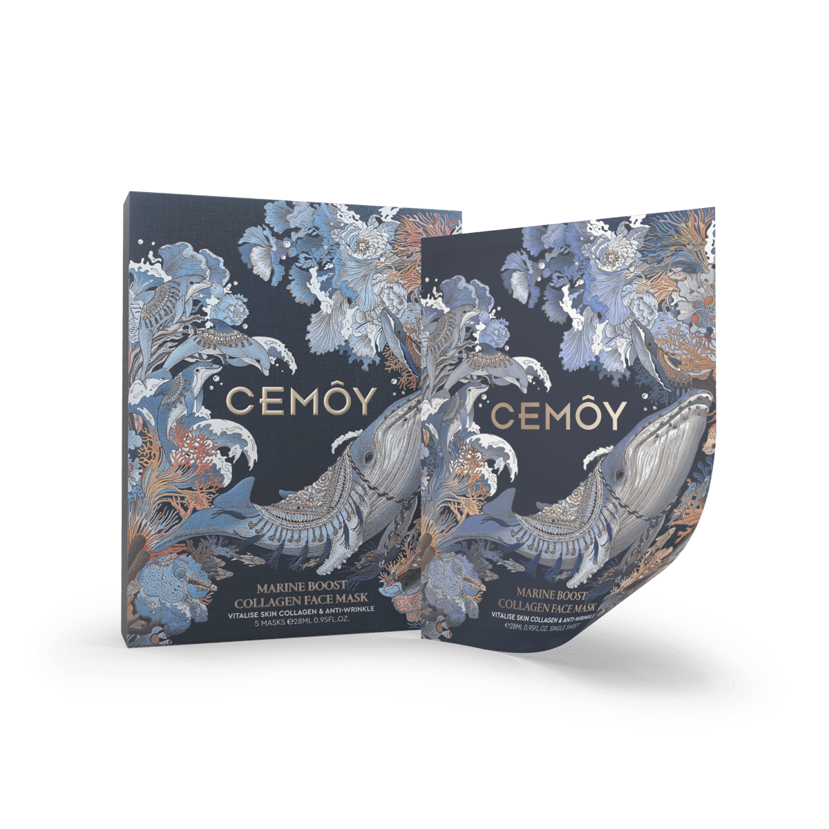 Cemoy Marina Boost Collagen Face Mask 5 Pack product shot