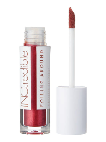 INC.redible Foiling Around Metallic Lip Paint Turn Me Up, Turn Me On - Red 3.40g