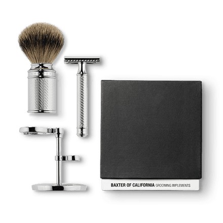 Baxter of California Shave Kit with Razor & Brush