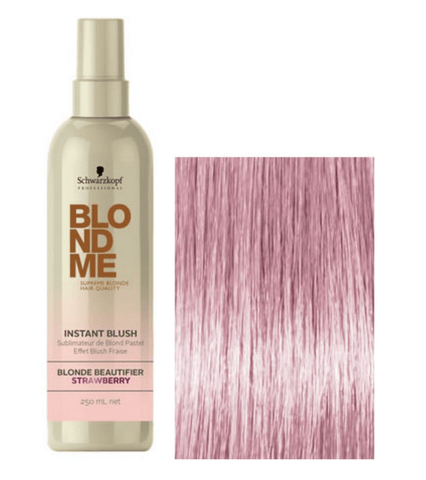 Schwarzkopf BLONDME Instant Blush Temporary Hair Colour- Strawberry 250ml