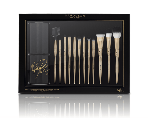 Napoleon Perdis Signature Golden Rule 12-piece Makeup Brush Kit