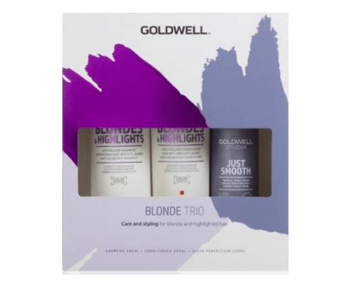 Goldwell Dualsenses Blondes & Highlights Trio Pack with Sleek Perfection