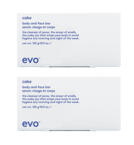 Evo Cake Body and Face Bar 310gm Duo Pack