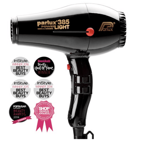 Parlux 385 Power Light Ceramic and Ionic Hair Dryer Black