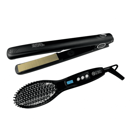Diva Pro Styler with Diva Luxe Straightening Brush Duo Pack