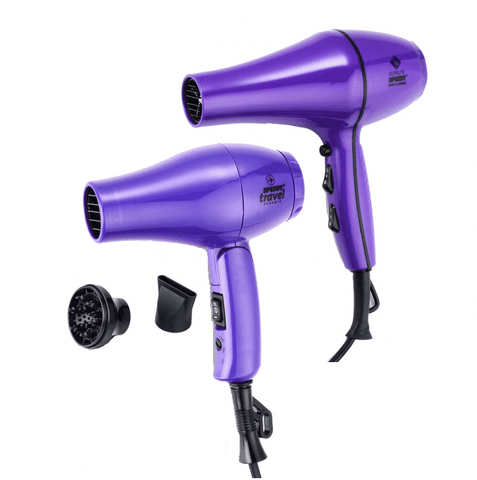 Speedy Supalite Professional Hairdryer Plus Free Speedy Travel Dryer - Purple