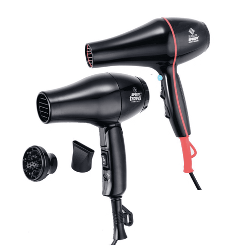 Speedy Supalite Professional Hairdryer Plus Free Speedy Travel Dryer - Black