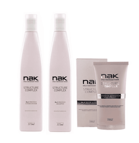 Nak Structure Complex Trio - Structure Complex Shampoo and Conditioner + Structure Complex Bond Enhancer 150m l