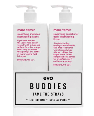 Evo Mane Tamer Smoothing Shampoo and Conditioner 500ml Duo Pack