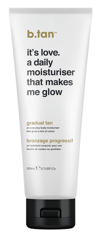 b.tan Gradual Tan It's Love A Daily Moisturiser That Makes Me Glow Everyday Glow Lotion 200ml